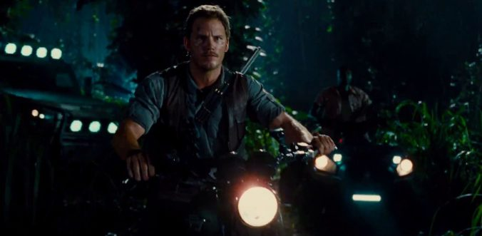 Chris Pratt in Jurassic World @UniversalPictures
