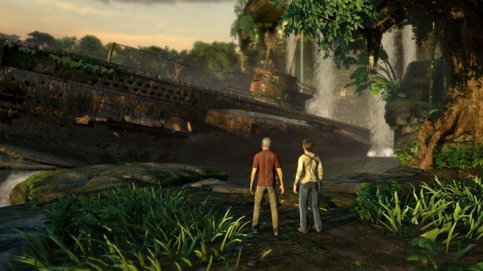 Uncharted image courtesy @NaughtyDog